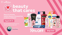 Unilever and Shopee #BeautyThatCares August 19 to 31 SALE
