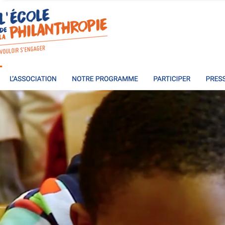 Aider l'école de la philanthropie