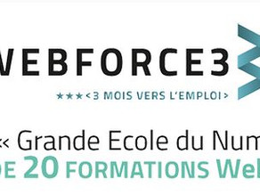 Partenariat avec la Webforce3