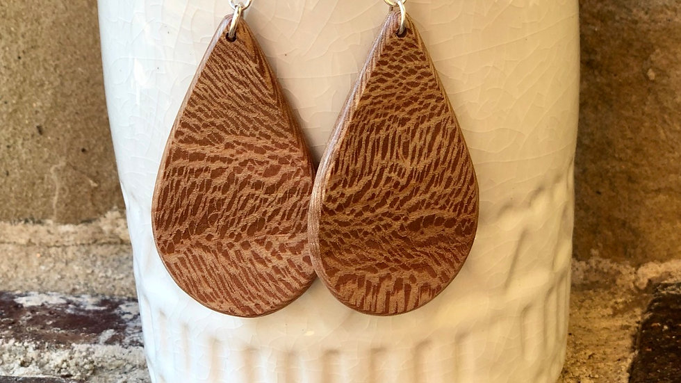 Sycamore Wood Earrings