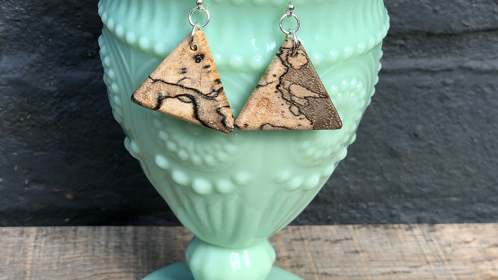 Spalted Pecan Wood Earrings