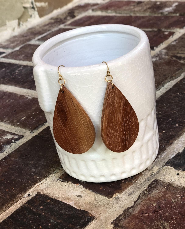 Thumbnail: Bloodwood Teardrop Earrings