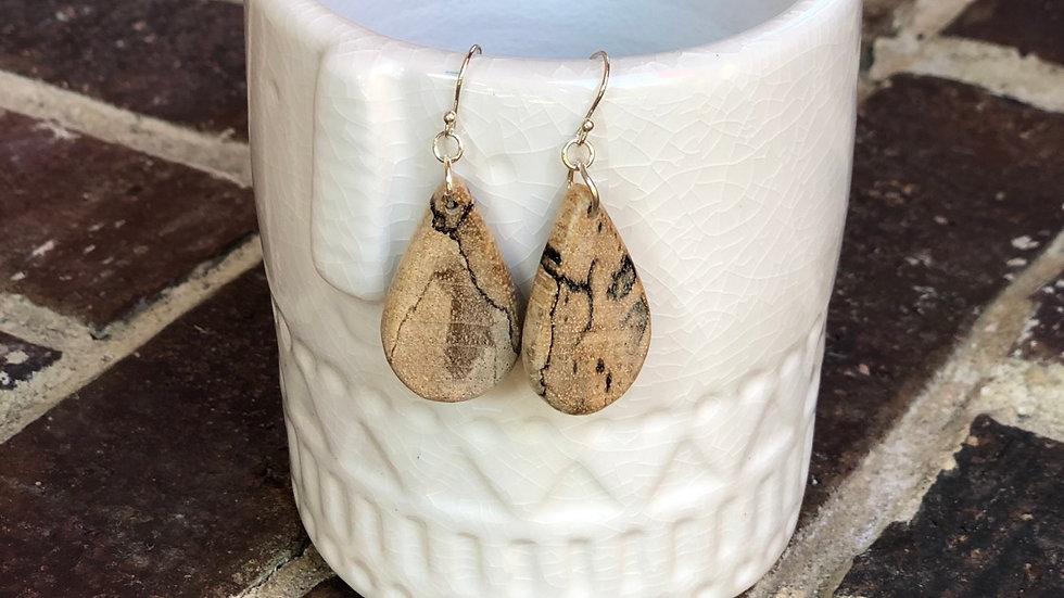 Petite Pecan Wood Earrings