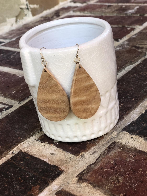 Thumbnail: Curly Maple Wood Earrings