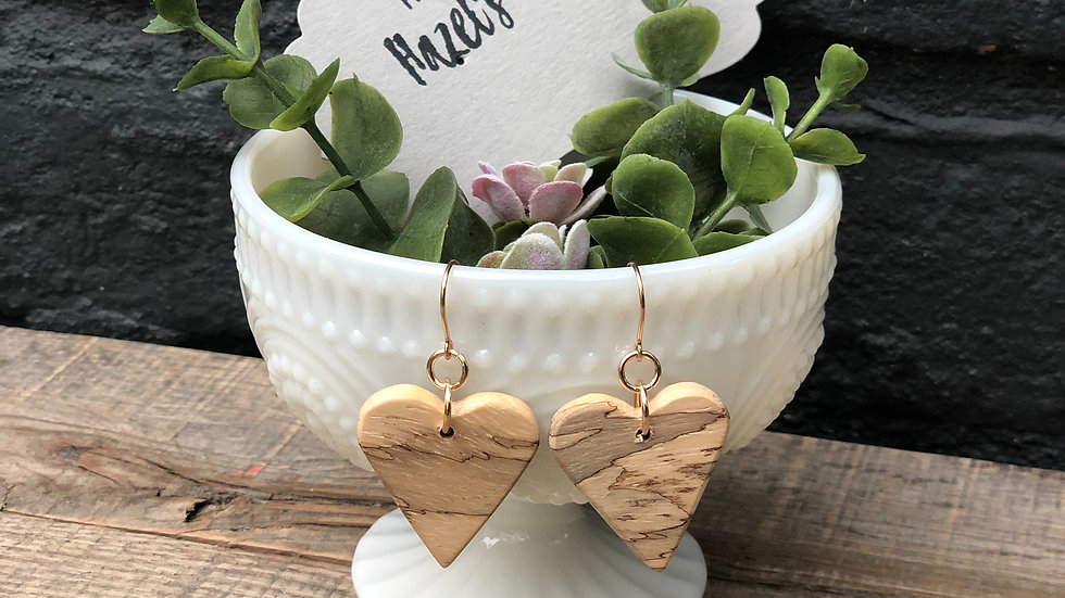 Spalted Tamarind Wood Triangle Earrings