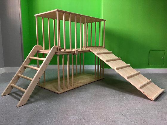 Conjunto de túneles, rampa doble y escalera.