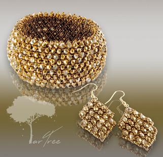 Bransoleta i kolczyki CAPRICE - Gold