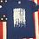 Thumbnail: Men's Royal blue bleeding gun flag shirt