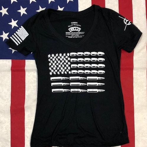 Women's BULLET FLAG Black shirt