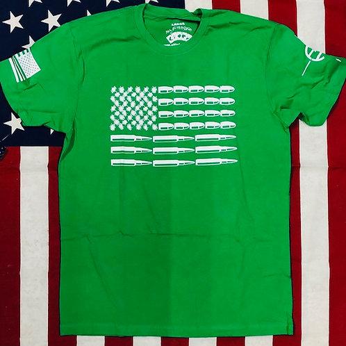 Men's green BULLET FLAG shirt