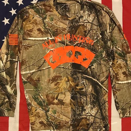 Men's Real Tree all in hunting long sleeve shirt Orange print