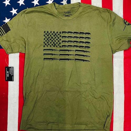 Men's O.D. green BULLET FLAG