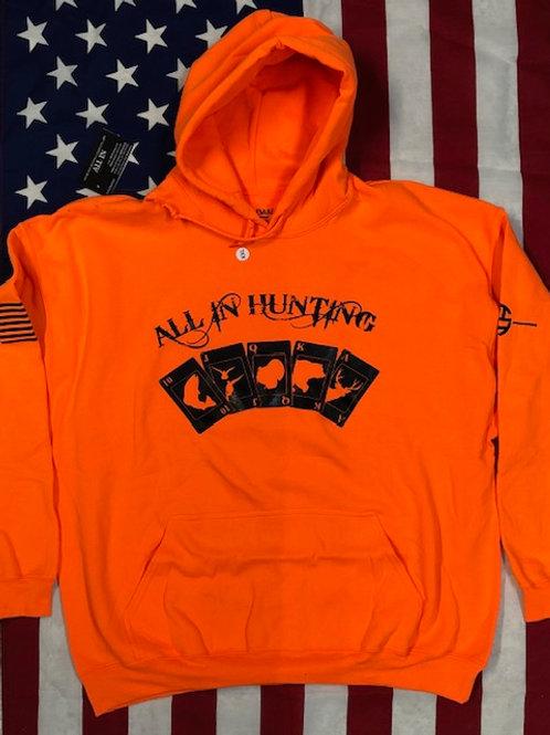 Men's Blaze Orange Hoodie AIH logo