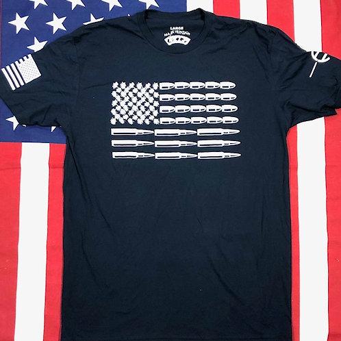 Men's Navy Blue BULLET FLAG shirt