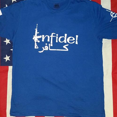 Men's Royal blue Infidel shirt