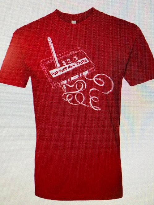 Men's red MIX TAPE shirt