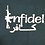 Thumbnail: Men's Navy Blue shirt with Infidel print