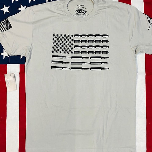 Men's Light Gray BULLET FLAG shirt