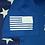 Thumbnail: Men's Royal blue soldier flag shirt
