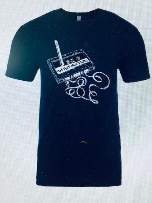 Men's navy blue mix tape shirt