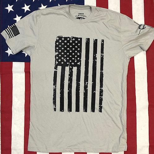 Men's light gray Flag shirt