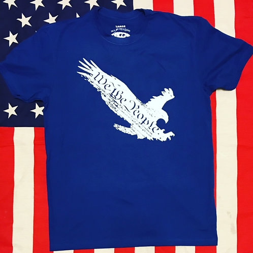 Men's WE THE PEOPLE EAGLE royal blue shirt