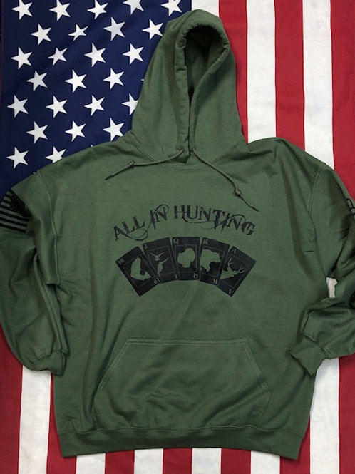 Men's O.D. Green all in hunting Hoodie