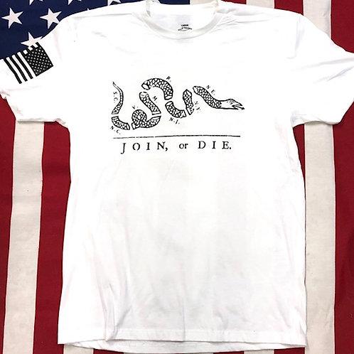 Men's white shirt Join or Die