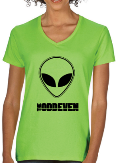 The OddEven - Ladies Alien Tshirt, Green