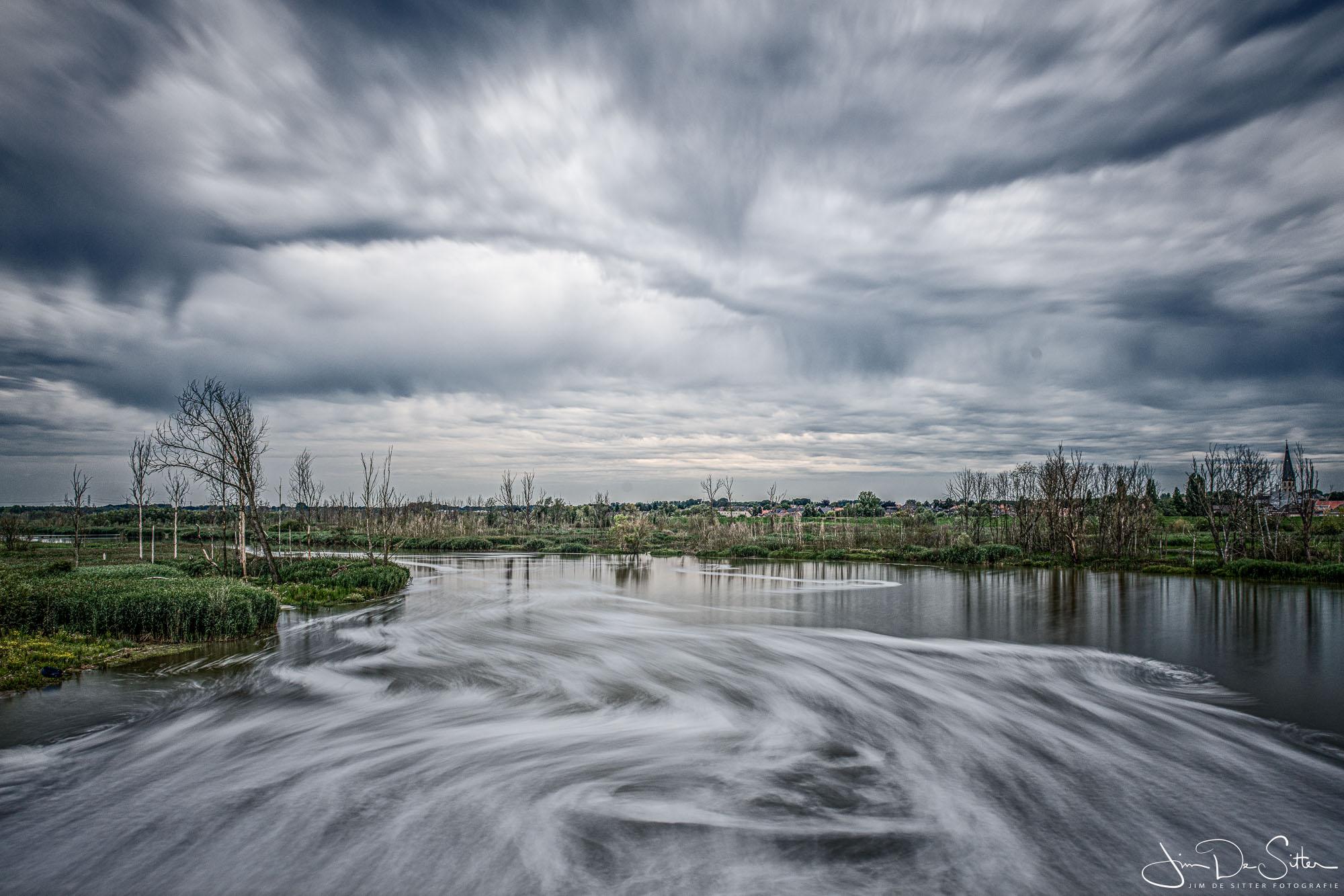 Landschapsfoto : Het overstromingsgebied de polder van Kruibeke
