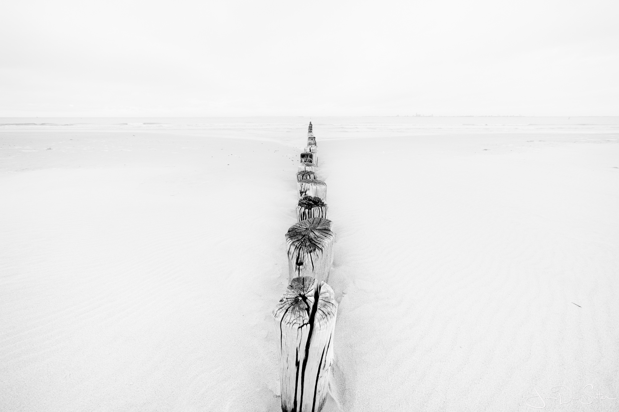 Landschapsfoto : Een eenvoudig strandbeeld in Cadzand