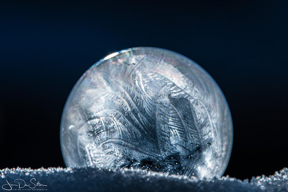 Bevroren zeepbellen, frozen bubbles