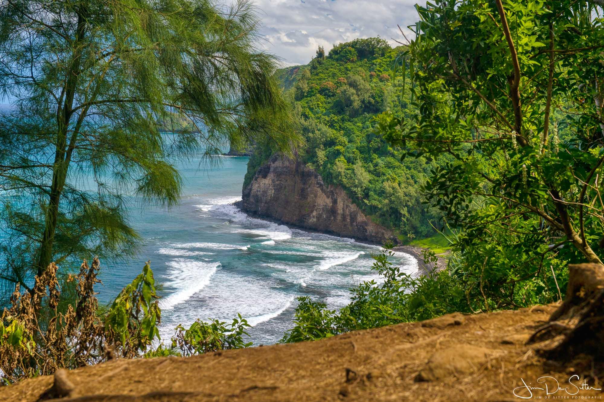 Landschapsfoto : Een tropische baai in Hawaii