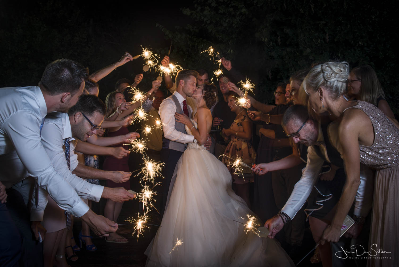 Huwelijksfotograaf Jim De Sitter : trouwfoto met een originele touch