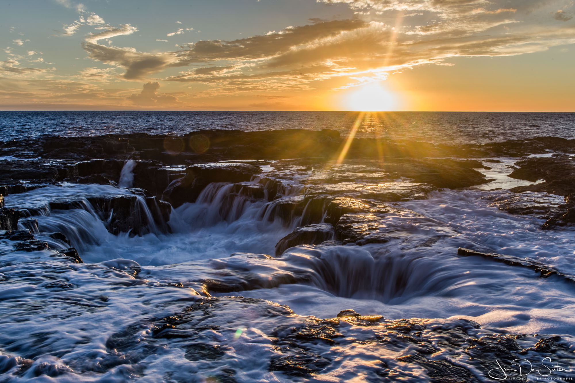 Landschapsfoto : Zonsondergang in Hawaii
