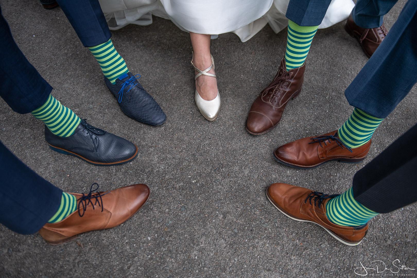 Huwelijksfotograaf Jim De Sitter : trouwfoto met een grappige touch