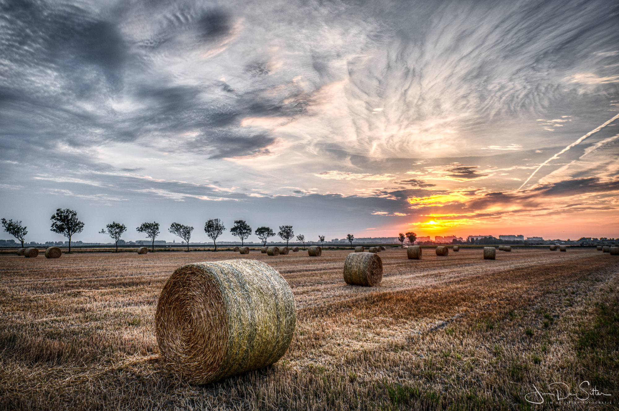 Landschapsfoto : Het oogstseizoen in Middelkerke