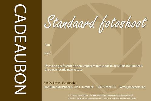 Cadeaubon Standaard Fotoshoot (60min)