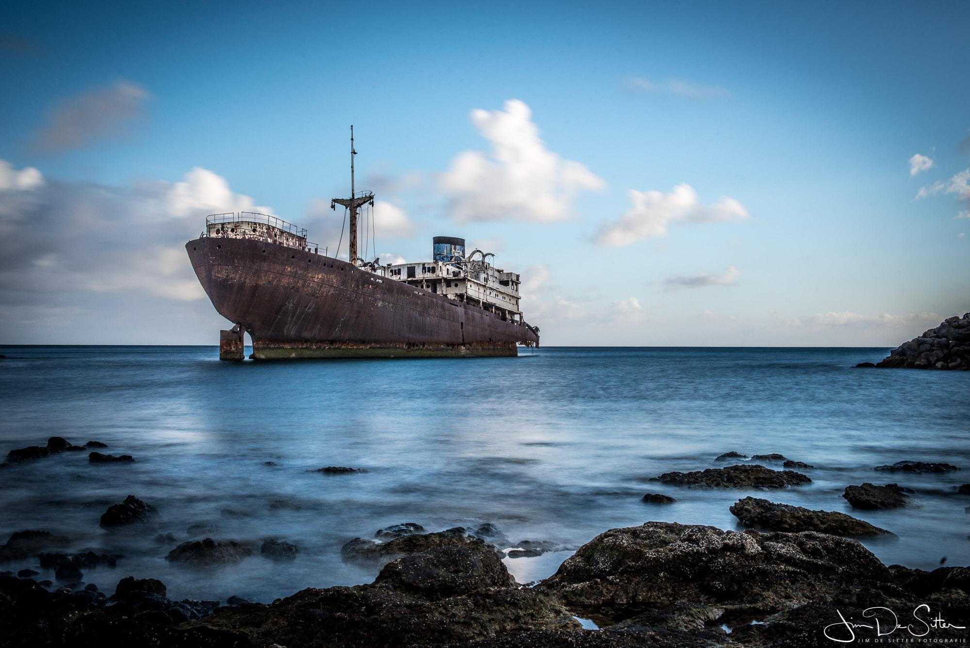 Landschapsfoto : Het scheepswrak van Thalemon in Lanzarote