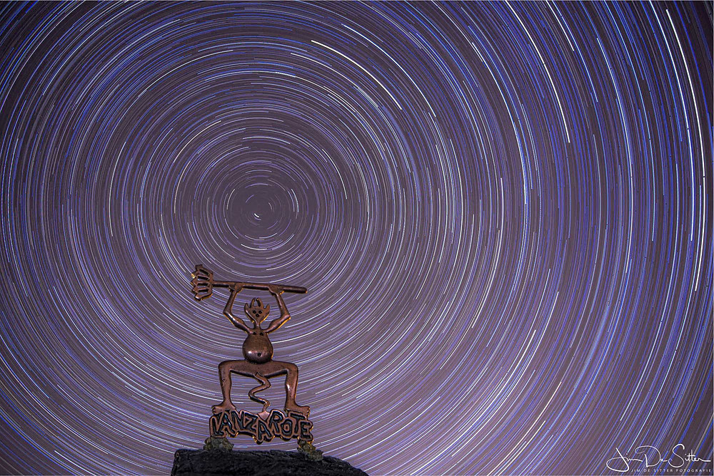 Startrails of sterrensporen