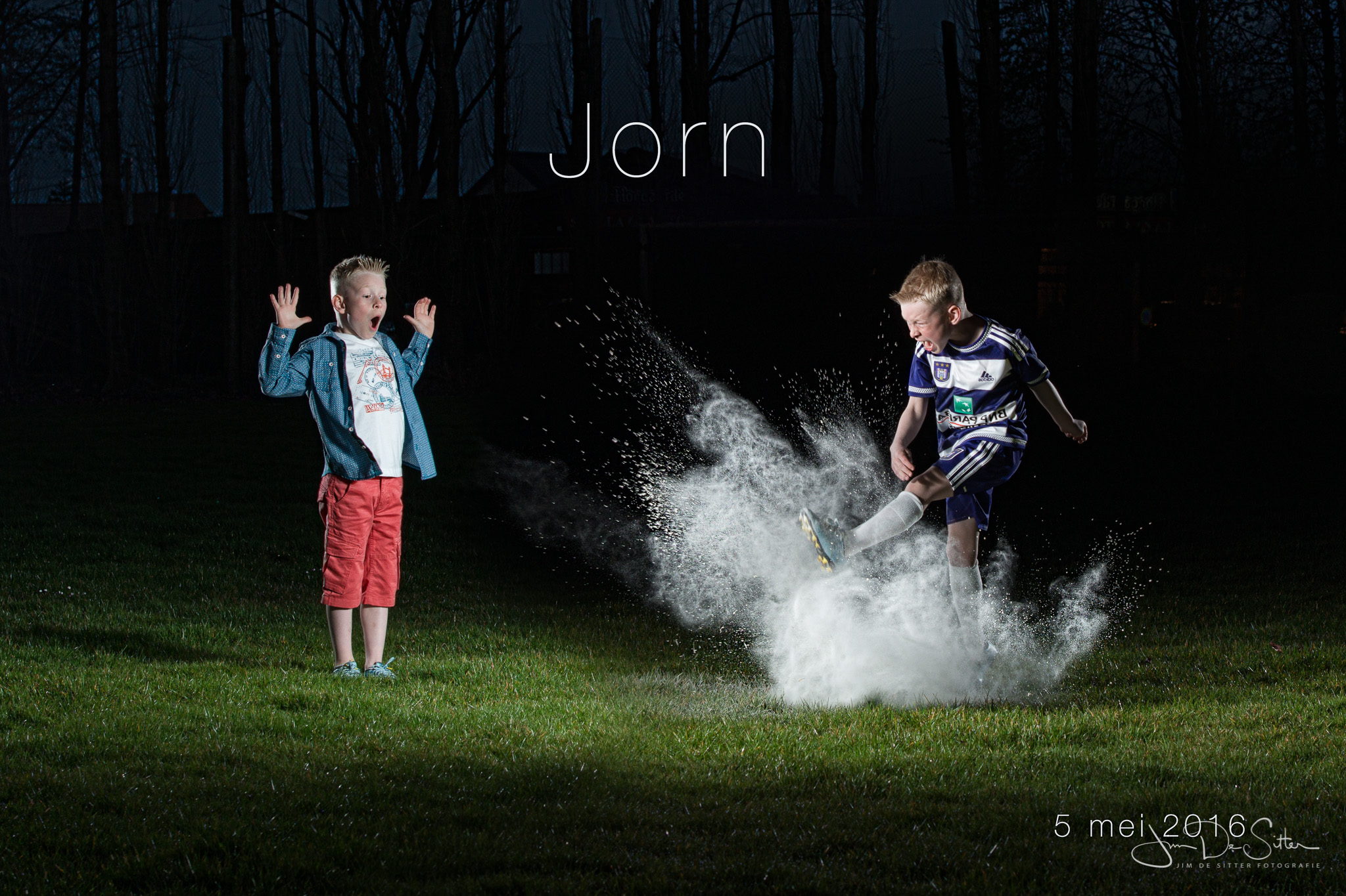 Origineel, grappig, stoer communiekaartje : fotograaf Jim De Sitter