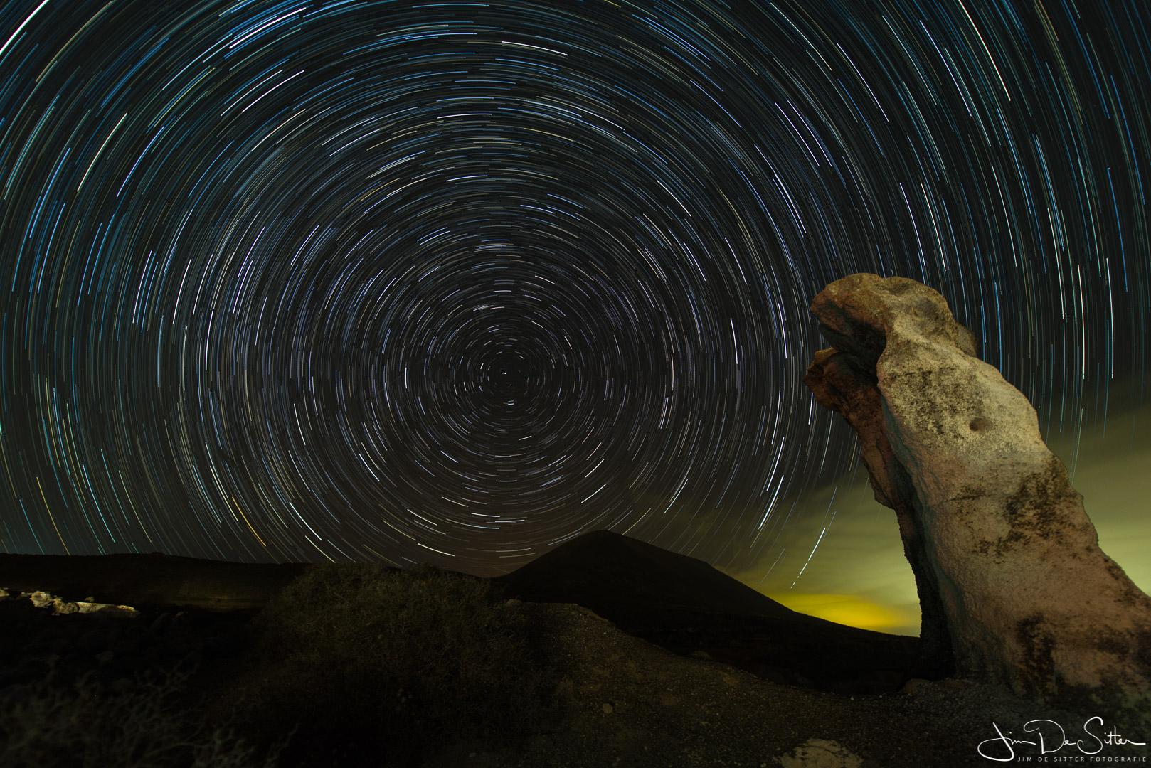 Landschapsfoto : Sterrensporen in Lanzarote