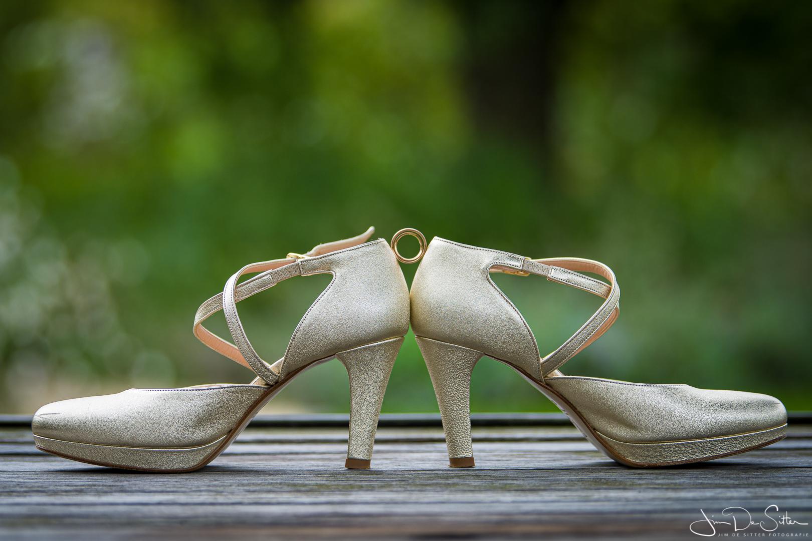 Huwelijksfotograaf Jim De Sitter: ringen en schoenen