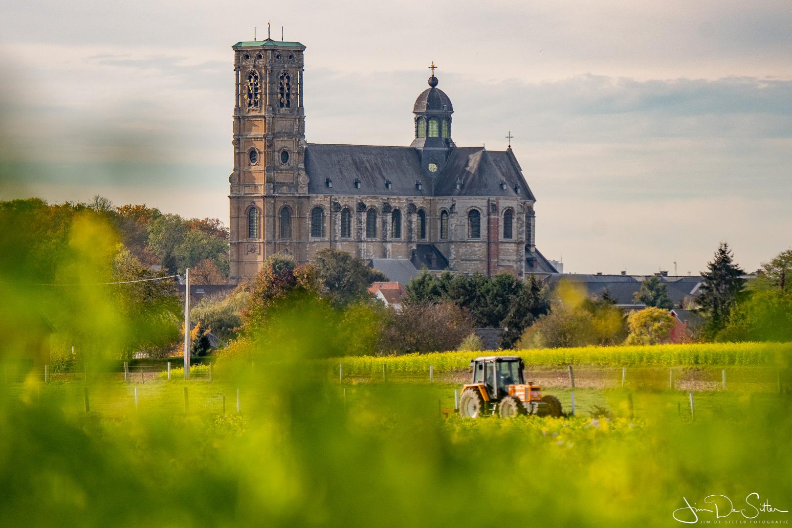 Landschapsfoto : De abdijkerk van Grimbergen