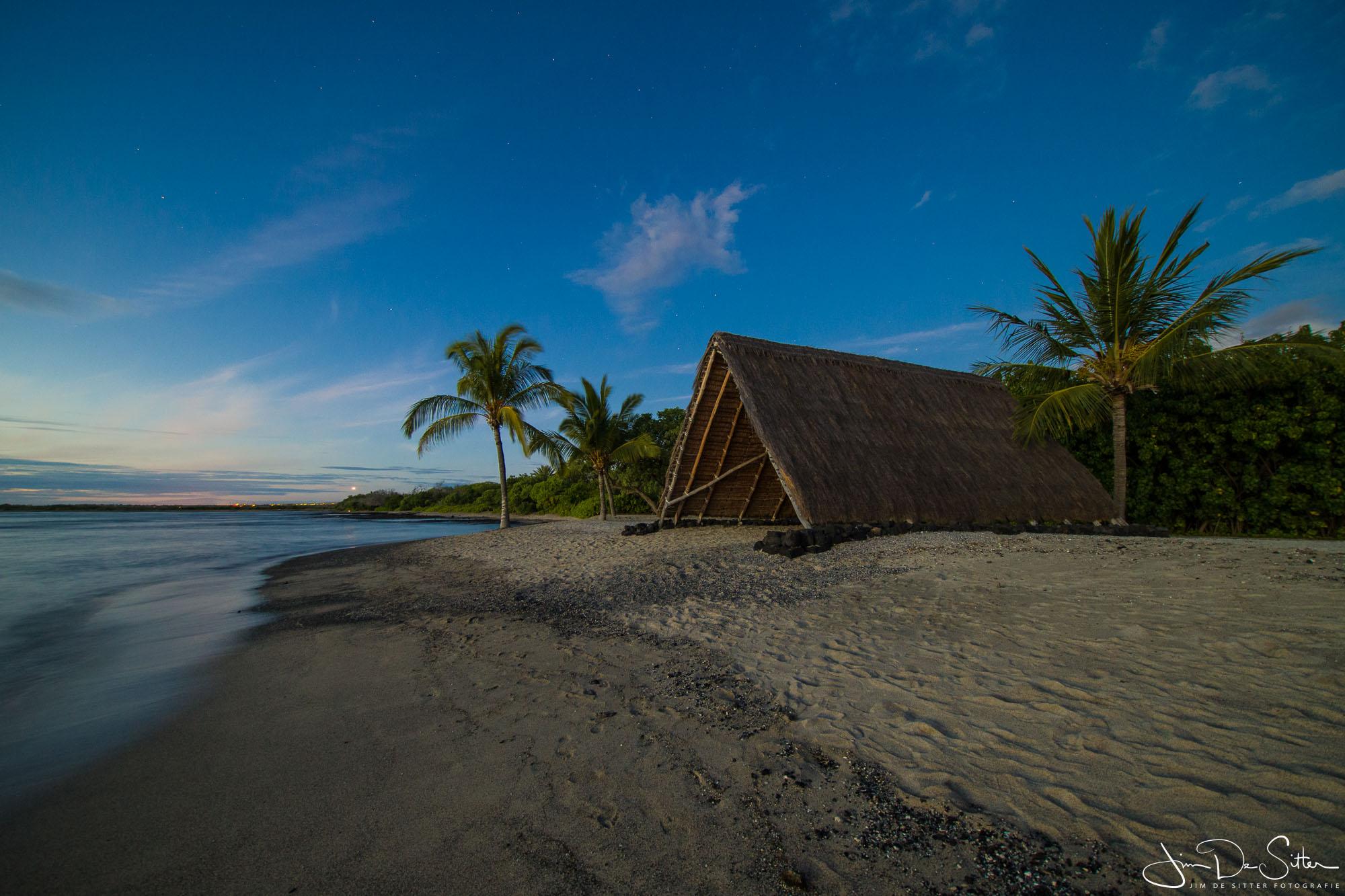 Landschapsfoto : Een strandhut in Hawaii