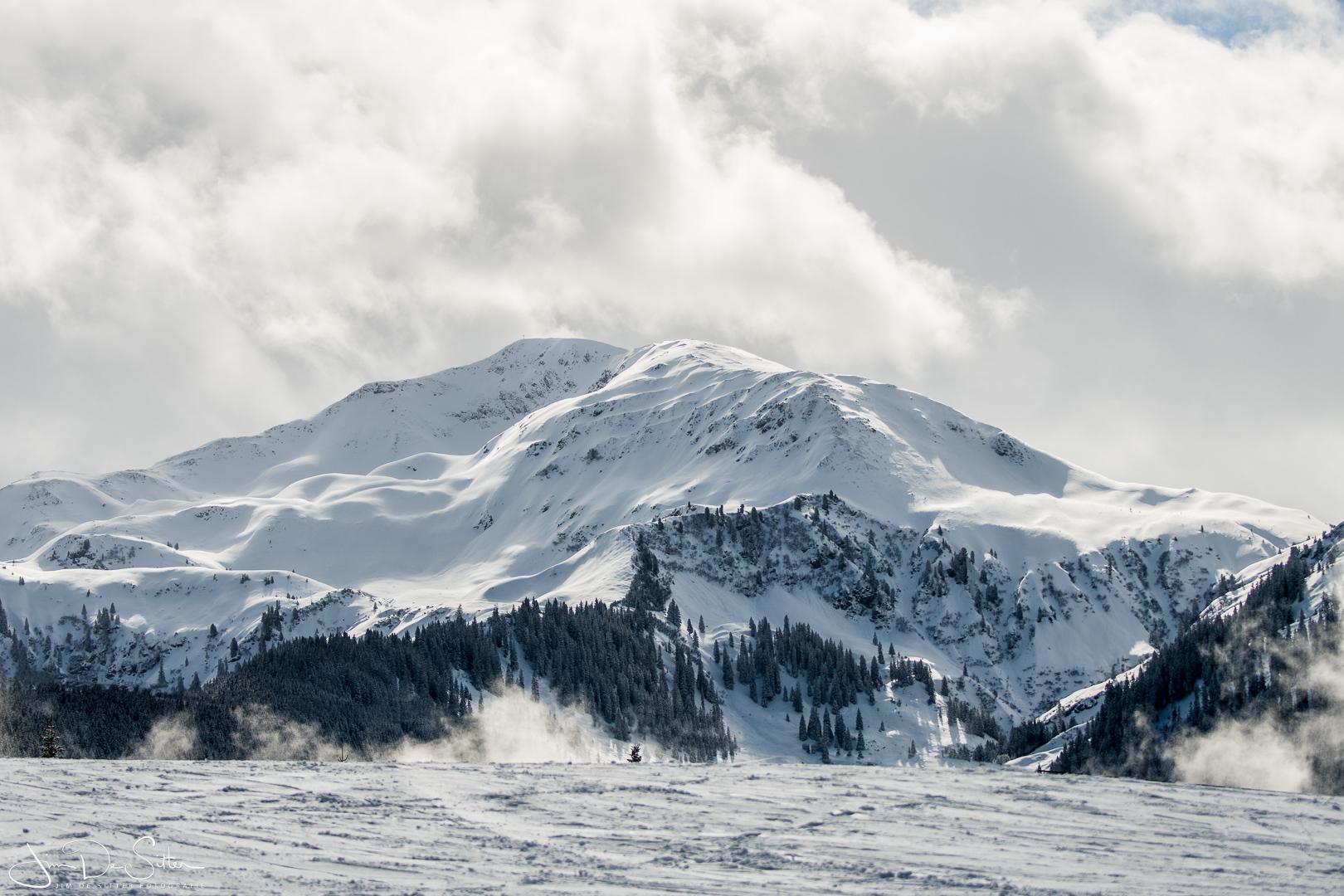 Landschapsfoto : Een winters landschap in Oostenrijk