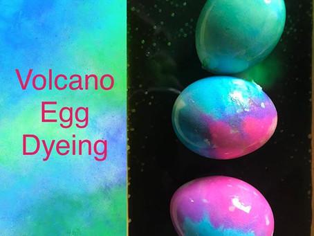 Amazing Volcano Egg Dyeing