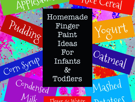 Edible Finger Paint Recipes for Infants & Toddlers