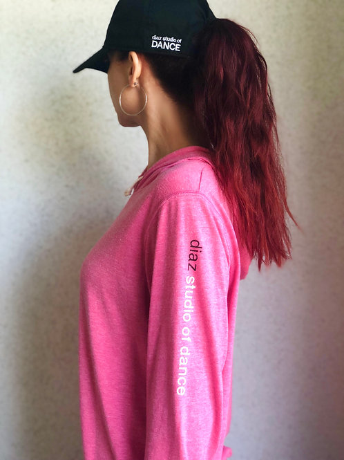 DSOD Pink Hooded Pullover with Thumbholes