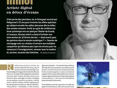 Article Accrochages N°205  - Interview de Nicolas Imhof par Maxime Fontannaz